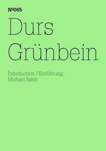 9783775729147: Durs Grünbein: Dream Index: 100 Notes, 100 Thoughts: Documenta Series 065 (100 Notes - 100 Thoughts / 100 Notizen - 100 Gedanken: Documenta 13)