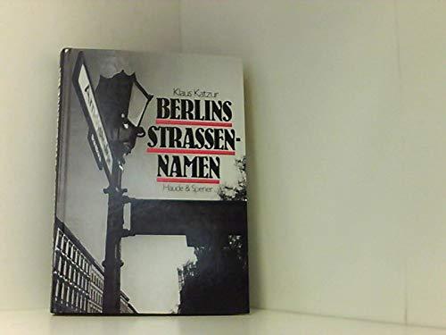 9783775902960: Berlins Strassennamen
