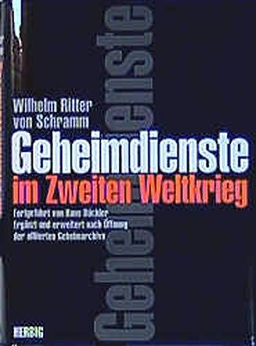 9783776622416: Geheimdienste im Zweiten Weltkrieg.