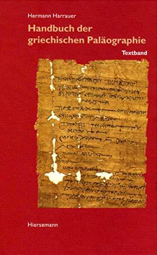 9783777209258: Handbuch der griechischen Palaeographie. Texband.