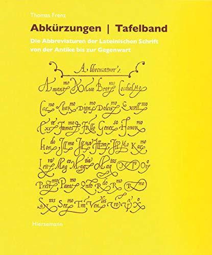 9783777214009: Abkürzungen - Tafelband