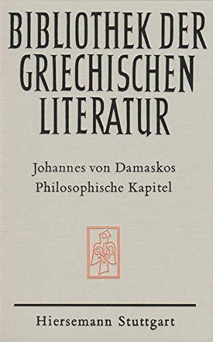 Philosophische Kapitel (Abteilung Patristik) (German Edition) (3777282030) by John