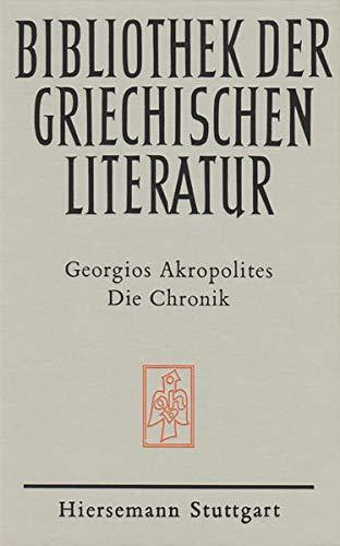 9783777289281: Die Chronik (Bibliothek der griechischen Literatur)