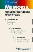 Memorix Naturheilkundliche HNO- Praxis.: Friedrich Begher; Michael