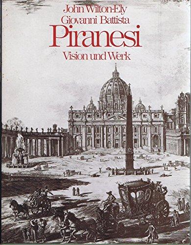 9783777429700: Giovanni Battista Piranesi.. Vision und Werk.