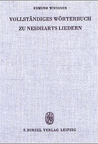 9783777604541: Vollstandiges Worterbuch Zu Neidharts LI