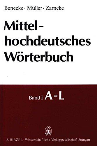 9783777604664: Mittelhochdeutsches W�rterbuch. Alphabetischer Index.