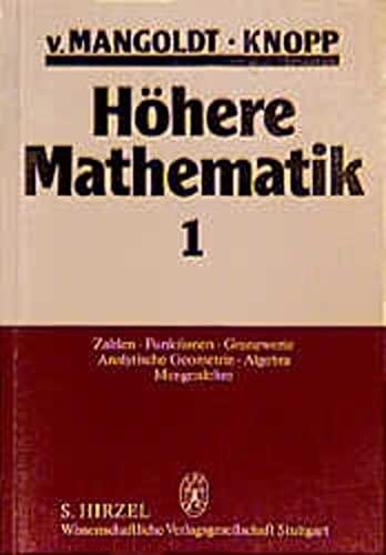 9783777604749: Höhere Mathematik I/ IV. Eine Einführung für Studierende und zum Selbststudium. Gesamtausgabe Band 1-4.