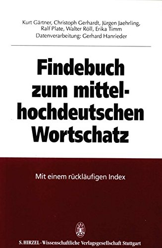 9783777604909: Findebuch zum mittelhochdeutschen Wortschatz