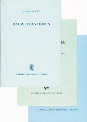 9783777607504: Räumliches Hören, 3 Bde.