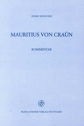 Mauritius von Craun: Heimo Reinitzer