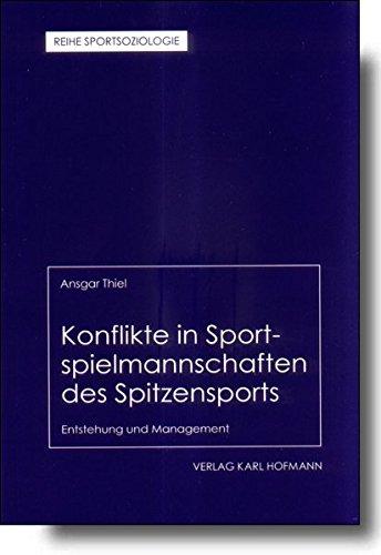 9783778033722: Konflikte in Sportspielmannschaften des Spitzensports: Entstehung und Mangement
