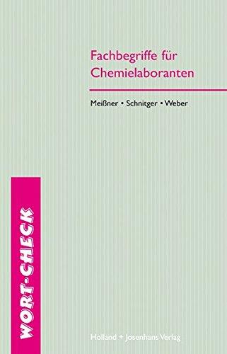 9783778216330: Fachbegriffe für Chemielaboranten