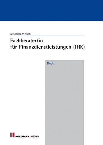 9783778307731: Fachberater/in f.Finanzdienstleistungen (IHK) Recht