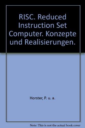 9783778514894 Risc Reduced Instruction Set Computer Konzepte Und