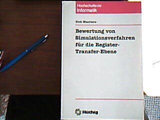 9783778518915: Bewertung von Simulationsverfahren für die Register-Transfer-Ebene (Hochschultexte Informatik) (German Edition)