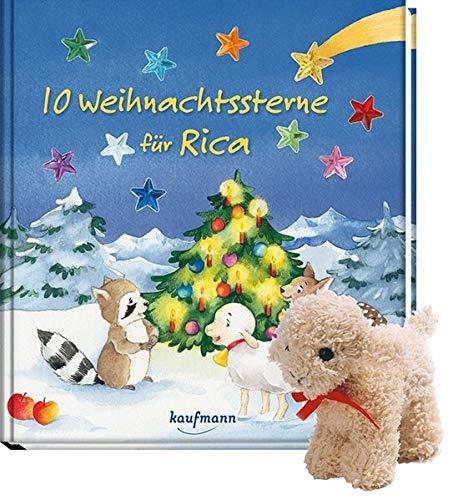 10 Weihnachtssterne für Rica (mit Stoffschaf): Antonia Spang