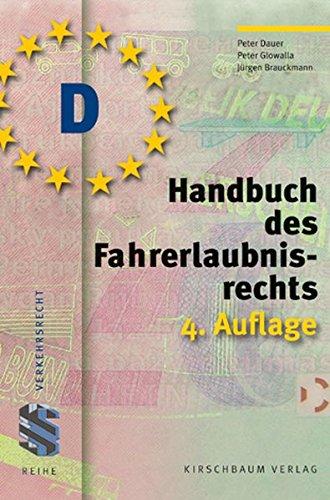 9783781218499: Handbuch des Fahrerlaubnisrecht
