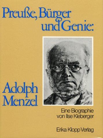 9783781771109: Preusse, Bürger und Genie, Adolph Menzel (German Edition)