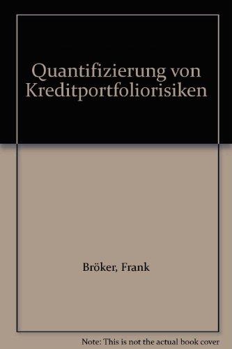 9783781906617: Quantifizierung von Kreditportfoliorisiken