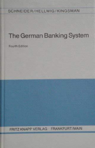 The German Banking System.
