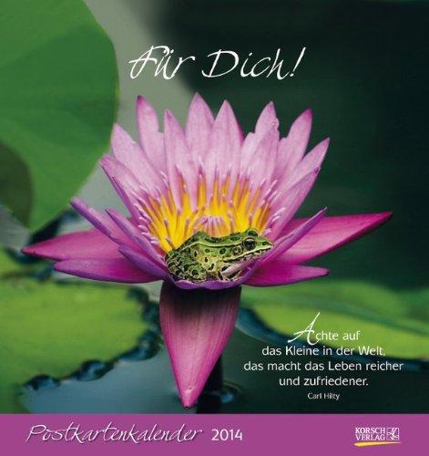 9783782784238: Für Dich! 2014: 1 Titelbl., 12 Monatsbl., Postktn., aufstellbar