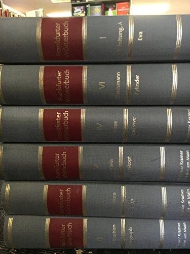 9783782903608: Frankfurter Wörterbuch (6 Six Volume Set)