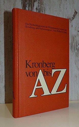 9783782904766: Kronberg von A bis Z (German Edition)
