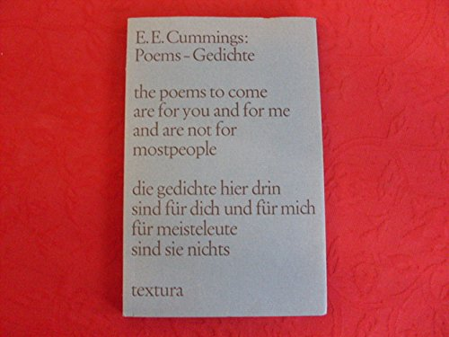 Edward Cummings Poems Gedichte Abebooks