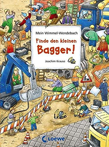 9783785566213: Finde den kleinen Bagger!/Finde den roten Ritterhelm!: Mein Wimmel-Wendebuch