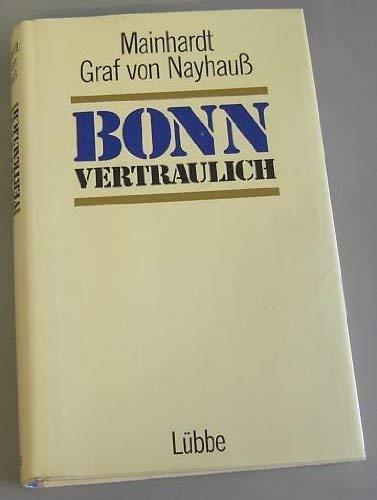 9783785704325: Bonn Vertraulich