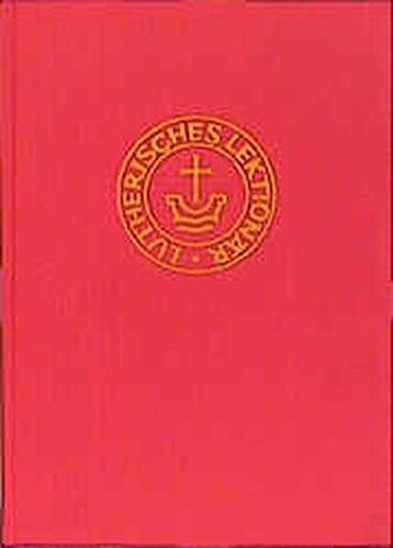 9783785905203: Lektionar für evangelisch-lutherische Kirchen und Gemeinden mit Perikopenbuch (German Edition)