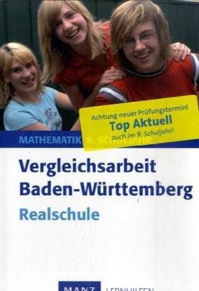 9783786331353: Vergleichsarbeit Mathematik. 8./9. Schuljahr Realschule. Baden-Württemberg: Mit Lösungen