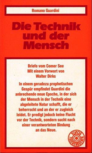 9783786709091: Die Technik und der Mensch: Briefe vom Comer See (Topos-Taschenbücher) (German Edition)
