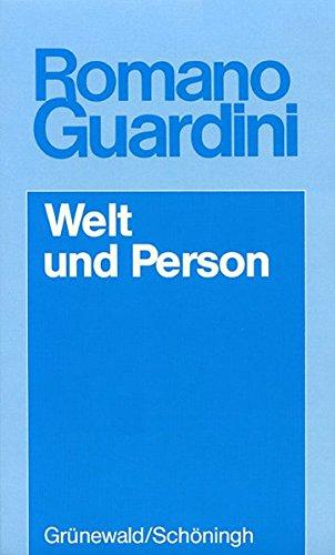 9783786713548: Welt und Person