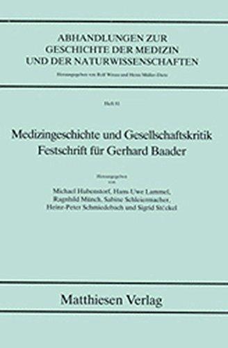 Medizingeschichte und Gesellschaftskritik: Michael Hubensdorf