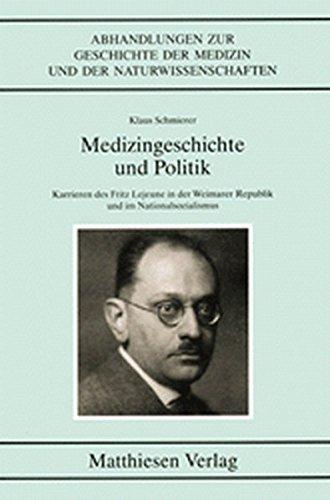 Medizingeschichte und Politik: Klaus Schmierer