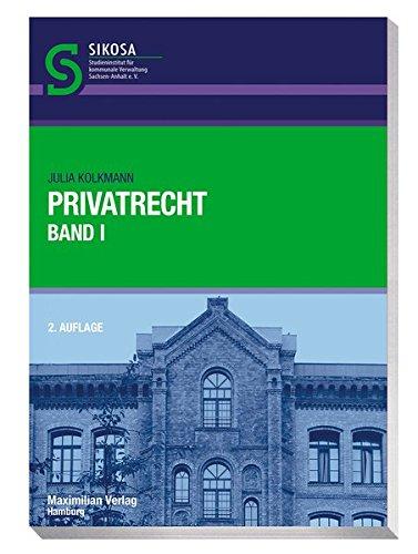 9783786909620: Privatrecht: Band 1