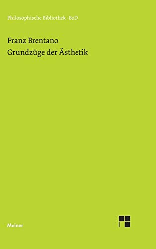 9783787307388: Grundzüge der Ästhetik