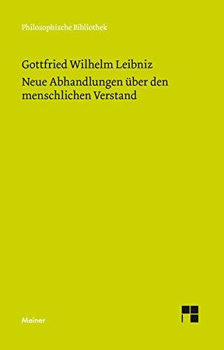 9783787310982: Philosophische Werke III: Neue Abhandlungen über den menschlichen Verstand
