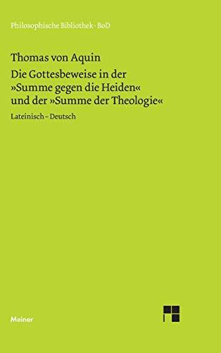 Die Gottesbeweise (German Edition) (9783787311927) by Thomas von Aquin