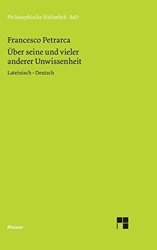 9783787311996: Über seine und vieler anderer Unwissenheit (German Edition)