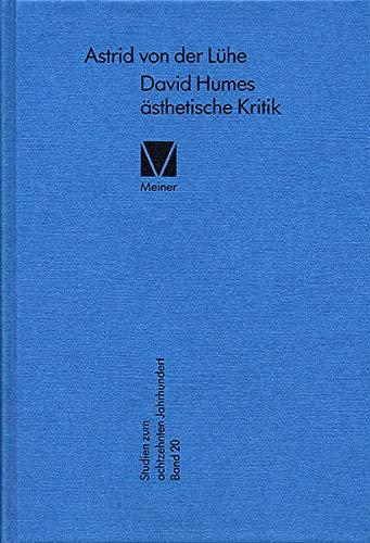 David Humes ästhetische Kritik: Astrid von der Lühe
