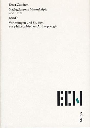 Zur philosophischen Anthropologie: Ernst Cassirer