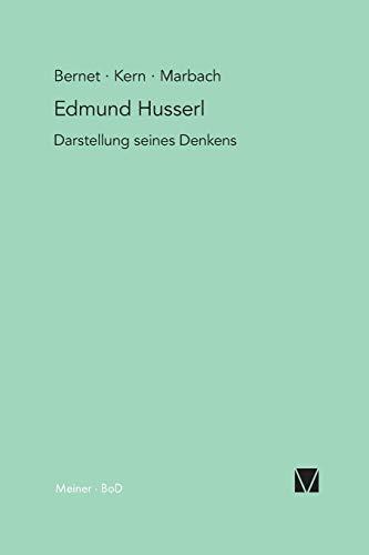 9783787312849: Edmund Husserl: Darstellung seines Denkens