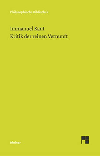 9783787313198: Kritik Der Reinen Vernunft