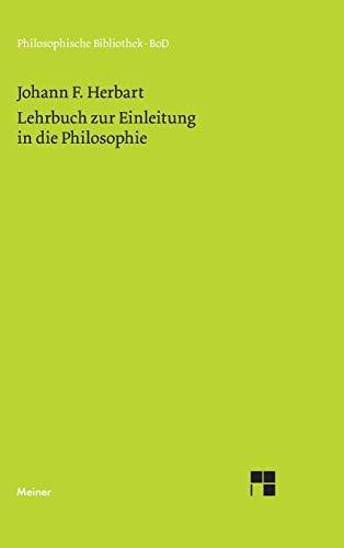 9783787313433: Lehrbuch Zur Einleitung in Die Philosophie