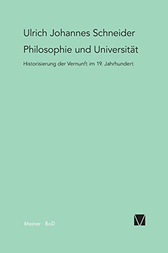 9783787313853: Philosophie und Universit�t
