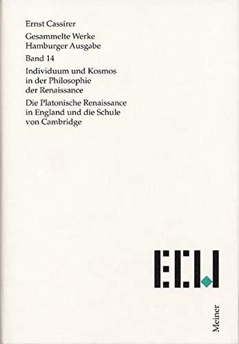Gesammelte Werke. Hamburger Ausgabe / Individuum und Kosmos in der Philosophie der Renaissance...