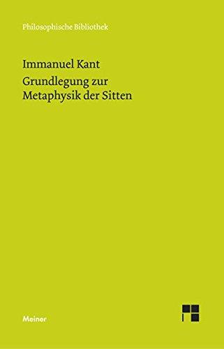 9783787314430: Grundlegung Zur Metaphysik Der Sitten